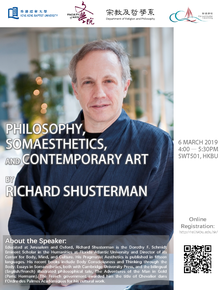 Colloquium : Philosophy, Somaesthetics, and Contemporary Art