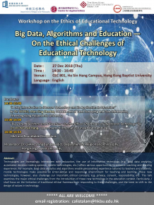 poster of Big Data, Algorithms and Education - On the Ethical Challenges of Educational Technology
