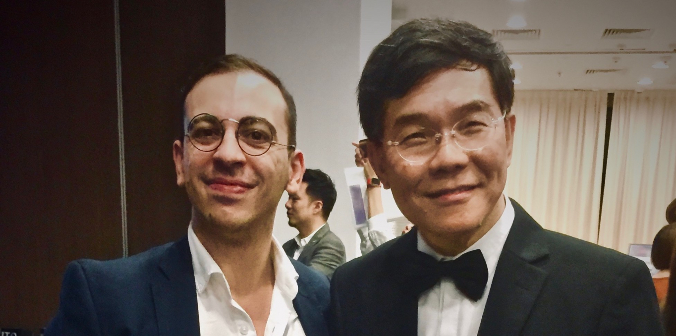 Antonio De Caro (left) wins the Young Scholar Award by the European Association for Chinese Philosophy